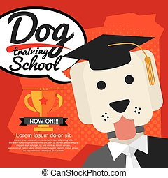 Dog Training School Vector