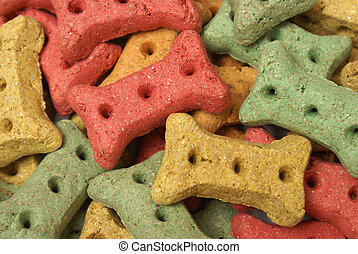 Dog Treats - A full frame of dog treats in the shape of a ...