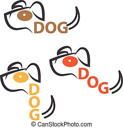 dog vector design template with text