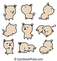 Dog vector french bulldog character icon breed Puppy illustrations white