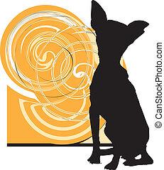 dog, vector, illustratie