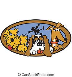 Dog Walker Or Dog Sitter Clip Art - Dog walker or dog sitter...