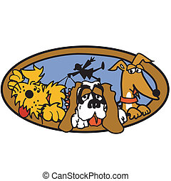 Dog Walker Or Dog Sitter Clip Art - Dog walker or dog sitter...