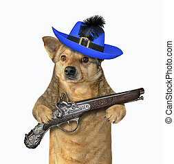 Dog warrior holds a pistol 2