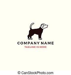 dog wearing shirt vector logo template