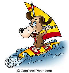 Dog Windsurfer
