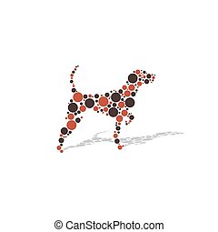 Dog with circles vector illustration