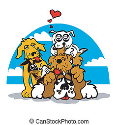 Dog With Valentine Heart Clip Art