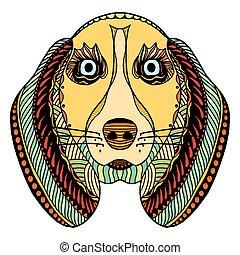 dog zentangle head