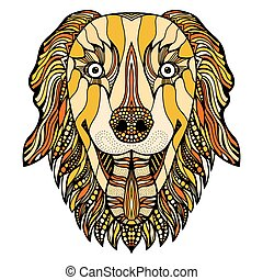 dog zentangle head