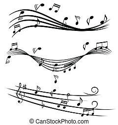 doga, note, musica