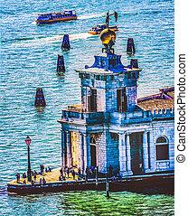 Dogana di Mare Customs House Fortune Statue Venice Italy  - ...
