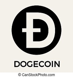 Dogecoin (DOGE) decentralized blockchain cryptocurrency vector logo