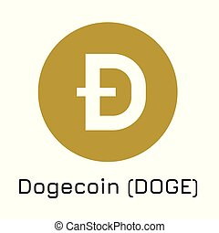 Dogecoin (DOGE). Vector illustration crypto coin