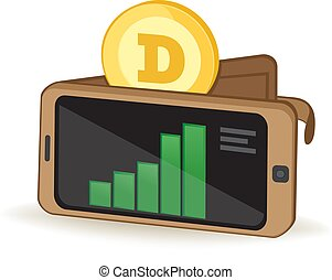 DogeCoin Wallet - Dogecoin Cryptocurrency Coin Digital...