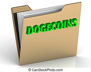 DOGECOINS2 - bright green letters on a folder
