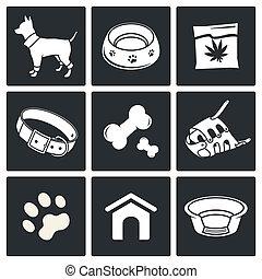 Doggy icons set