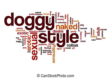 Doggy style word cloud concept