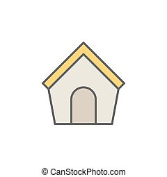 Doghouse colorful icon or design element on white background