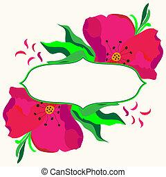 dogrose, cornice, fiori, composit