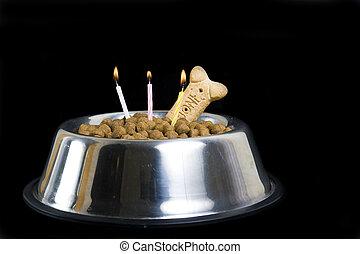 Dog\'s birthday cake