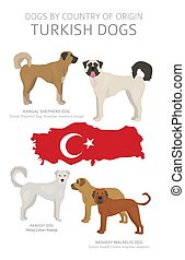 Dogs by country of origin. Turkish dog breeds. Shepherds,...