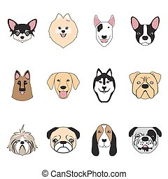 dogs collection, vector