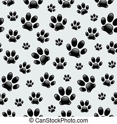 Dog's Footprints-Seamless Pattern - Vector seamless pattern ...