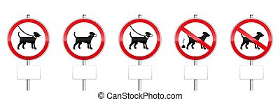 Dogs Mandatory Signs With Blank Panels - Dogs mandatory...