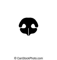 Dog's nose icon. Logo element for pet shop, vet - Dog's nose...