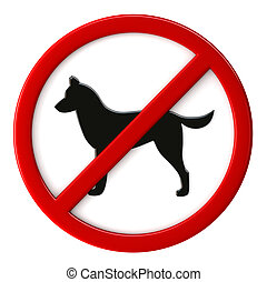 Dogs not allowed - 3d render of dogs not allowed sign