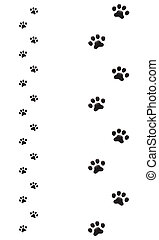 Dogs paw silhouette - a set of dogs paw silhouettes one with...