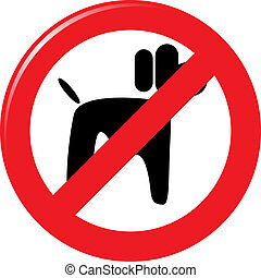 dogs prohibition sign
