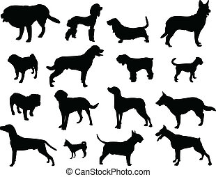 Dogs silhouette - vector