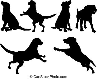 Dogs - Various dog silhouettes