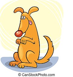 Dog's tricks: stand - Illustration of dog doing stand trick