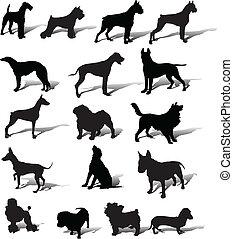 Dogs vector slhouette