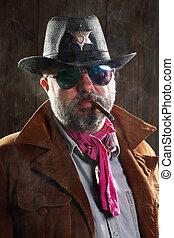 dohányzás szivar, seriff