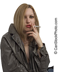 dohányzó, leány