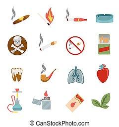 dohányzó, mód, ikonok, lakás