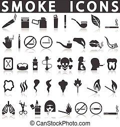 dohányzik, ikonok