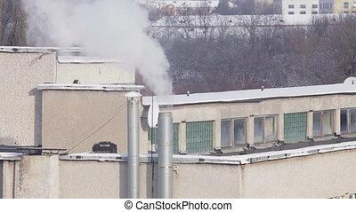 dohányzik, kémény, szennyezés