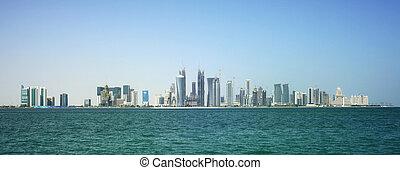 Doha city skyline in Qatar - The new skyline of the Qatari...
