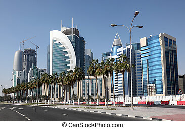 Doha downtown. Qatar, Middle East
