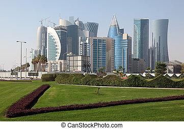 Doha new downtown district West Bay, Qatar