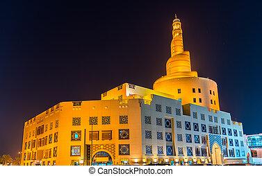 doha, qatar, islámico, cultural, centro
