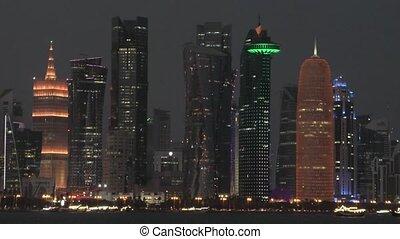 Doha skyline night