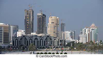 """Doha skyscrapers - West Bay Doha\'s high rise \""""New..."""