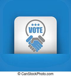 dohoda, jako, hlasovat