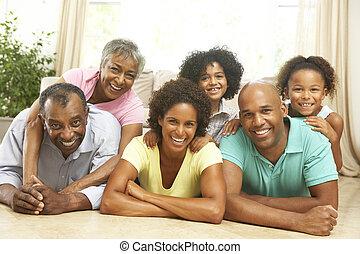 dohromady, prodloužený, povolit, dům home